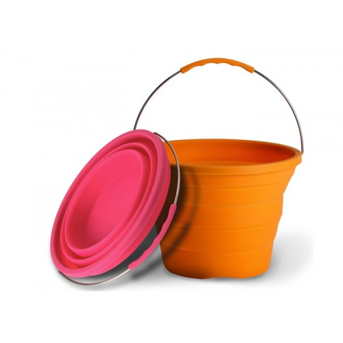 Combo - 1 X Pink + 1 x Orange Pack-Away Bucket