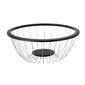 Collapsible stainless steel wire bowl