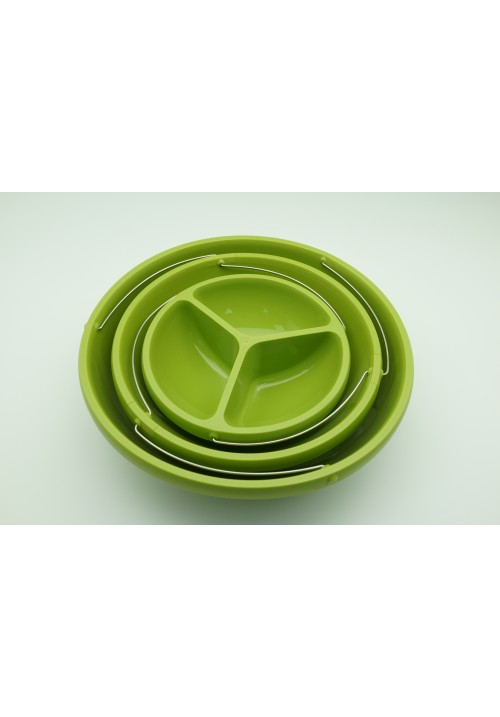 Collapsible 3-in-1 bowl